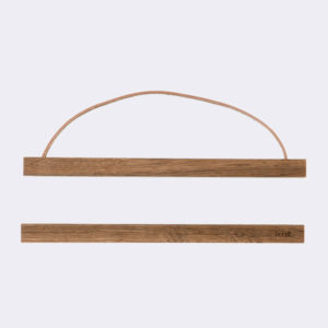 Ferm Living - Wooden Frame Smoked Oak with Leather String