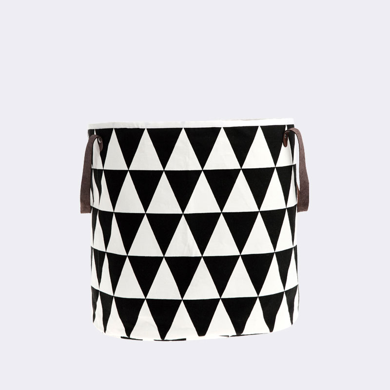 Ferm Living - Triangle Basket with Leather Handles