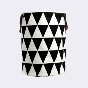 Ferm Living - Triangle Laundry Basket with Leather Handles
