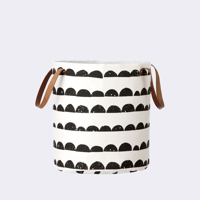 Ferm Living - Half Moon Basket with Leather Handles