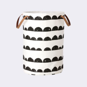 Ferm Living - Half Moon Laundry Basket with Leather Handles