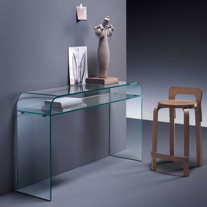 Fiam - Elementare Console Table with Shelf