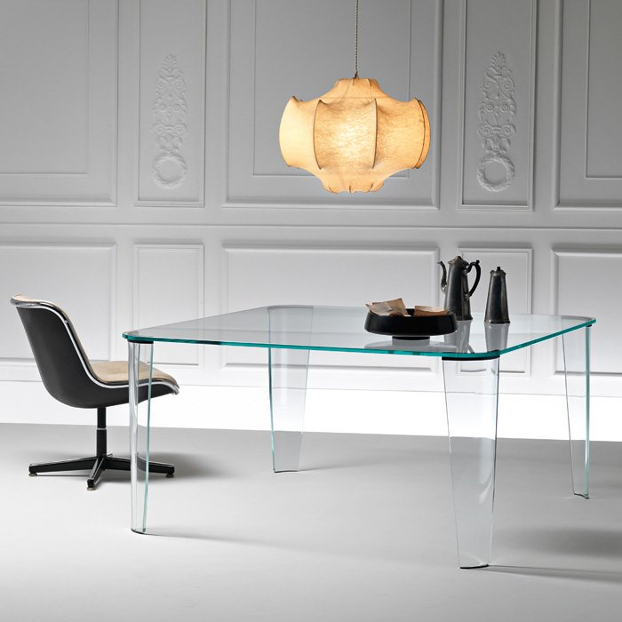 Fiam - Montefeltro Glass Table L180 cm