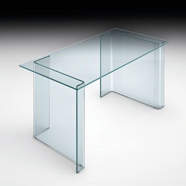 Fiam - luminare Small Office Glass Table 130cm
