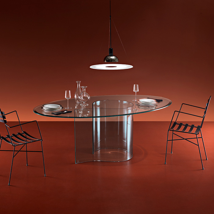 Fiam - Papiro Glass Table