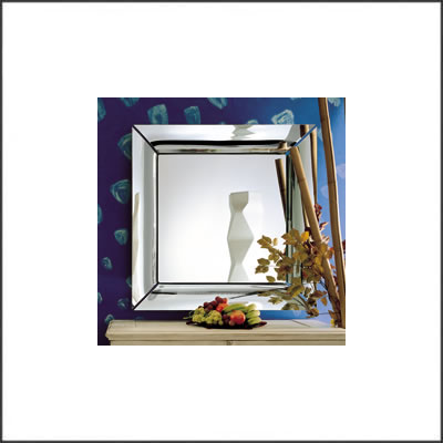 Fiam philippe starck caadre square wall mirror large for Big square wall mirror