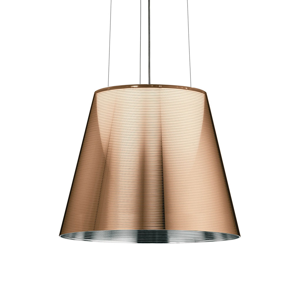 flos philippe starck ktribe s2 suspension light bronze panik design. Black Bedroom Furniture Sets. Home Design Ideas