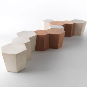 Horm - Steven Holl - Hexagon Side Table or Stool
