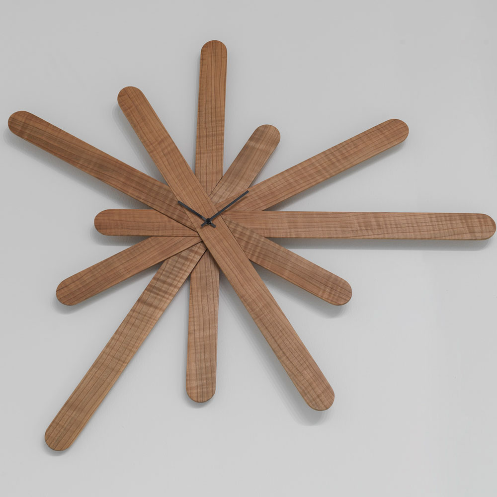 Horm Carlo Stefanut Woodclock Wall Clock Panik Design