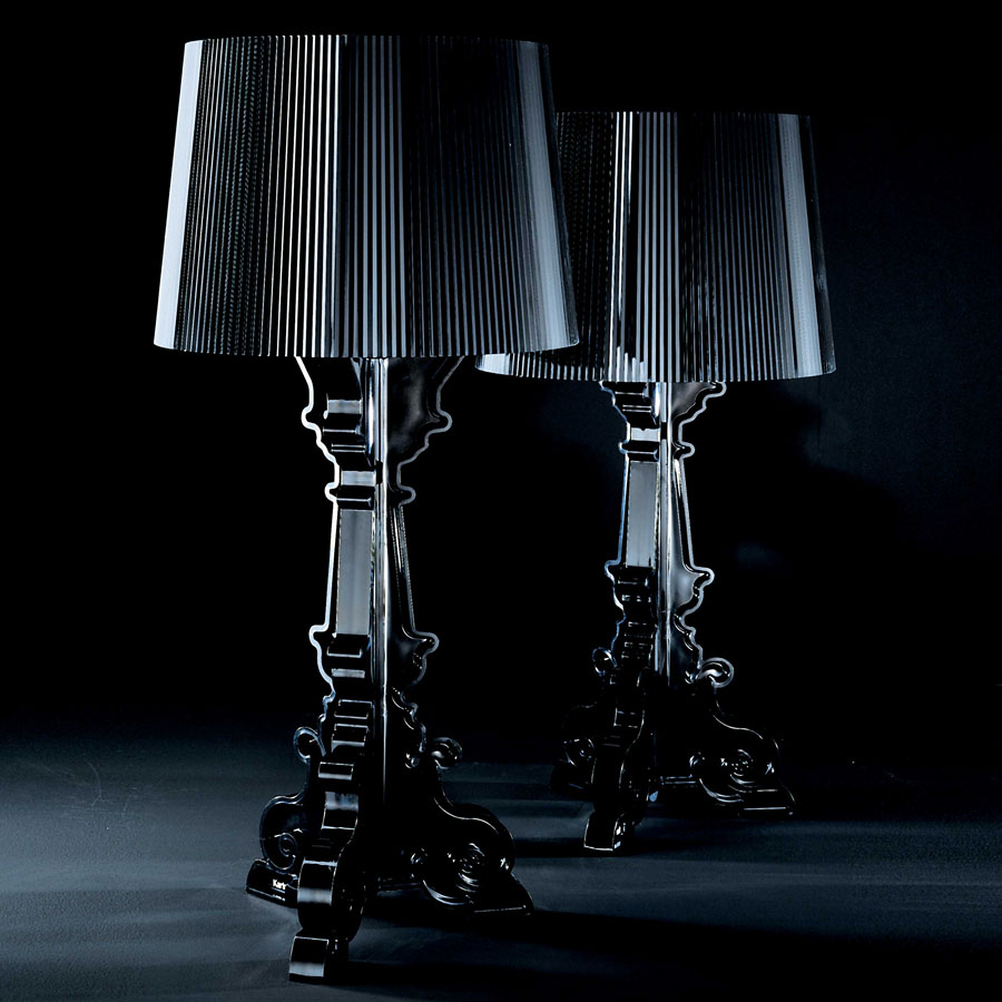 Kartell ferruccio laviani bourgie black table light for Ferruccio laviani bourgie lamp