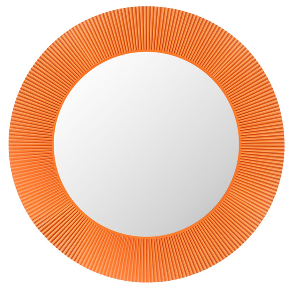 Kartell By Laufen All Saints Round Mirror Tangerine