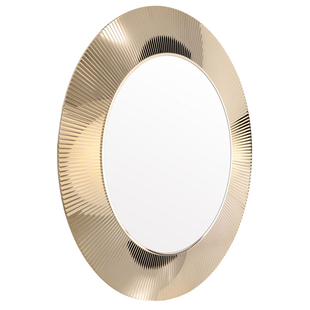 Kartell By Laufen All Saints Round Mirror Metallic Gold