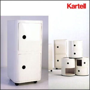 Kartell - Anna Castelli Ferrieri - Square 2 High Element Componibili with Doors and Wheels
