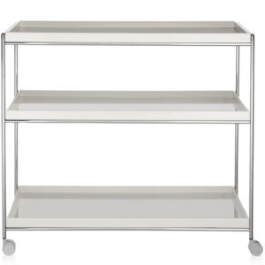 Kartell - Piero Lissoni - Trays Trolley Glossy White