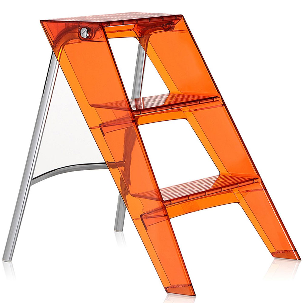 Kartell Upper Folding Step Ladder Orange Red