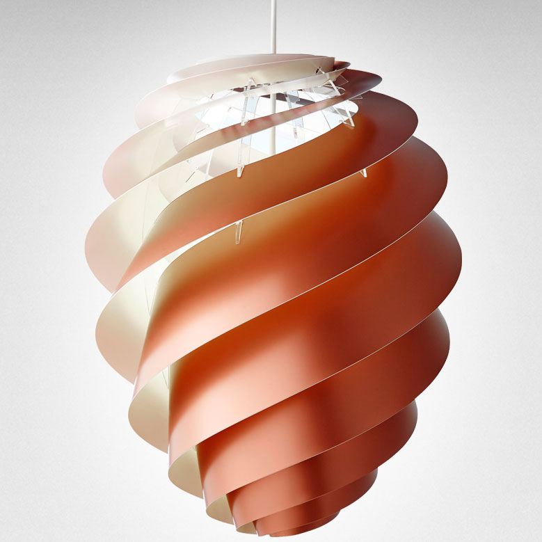 Le Klint - Swirl CP 2 Large Copper Suspension Light : cp lighting centres - www.canuckmediamonitor.org