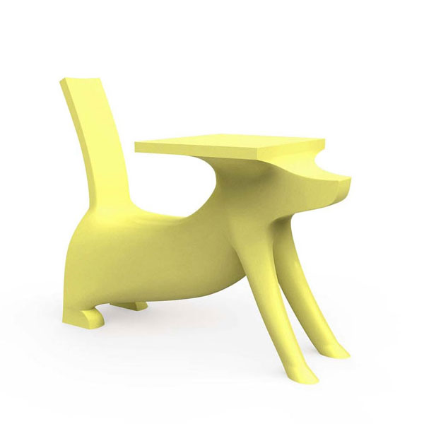 Magis - Philippe Starck - Le Chien Savant Childrens Chair Desk Yellow