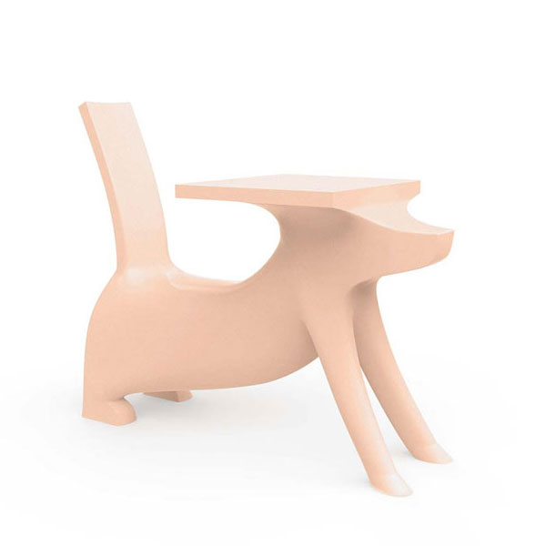 Magis - Philippe Starck - Le Chien Savant Childrens Chair Desk Pink