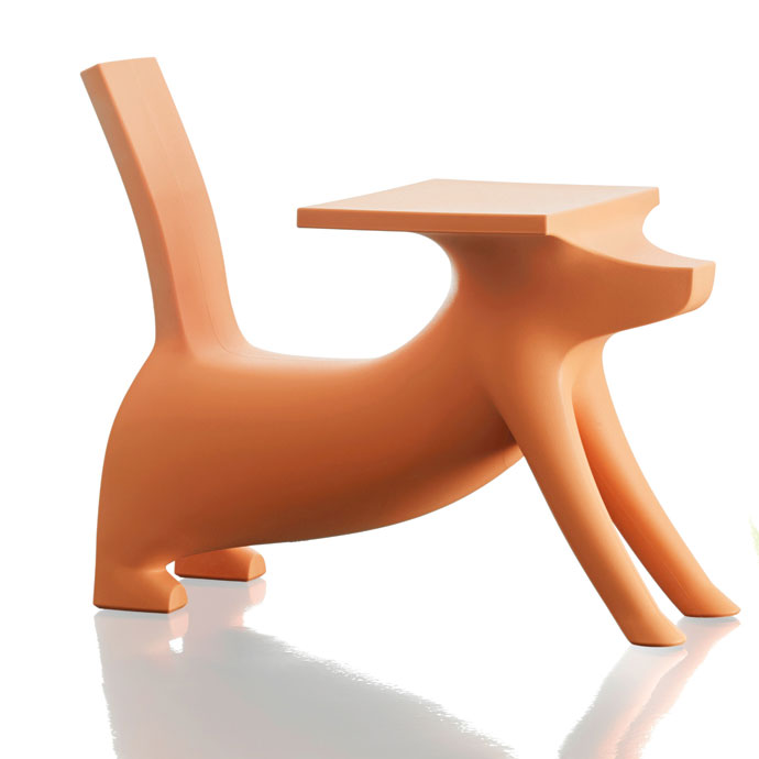Magis - Philippe Starck - Le Chien Savant Childrens Chair Desk Orange