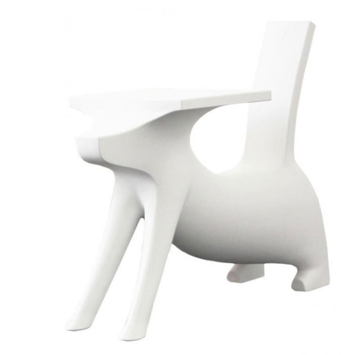 Magis - Philippe Starck - Le Chien Savant Childrens Chair Desk White