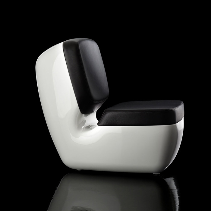 Magis   Nimrod Leather Cushions Glossy Chair