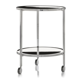 Magis - Tambour Polished Aluminium Trolley Table on Wheels