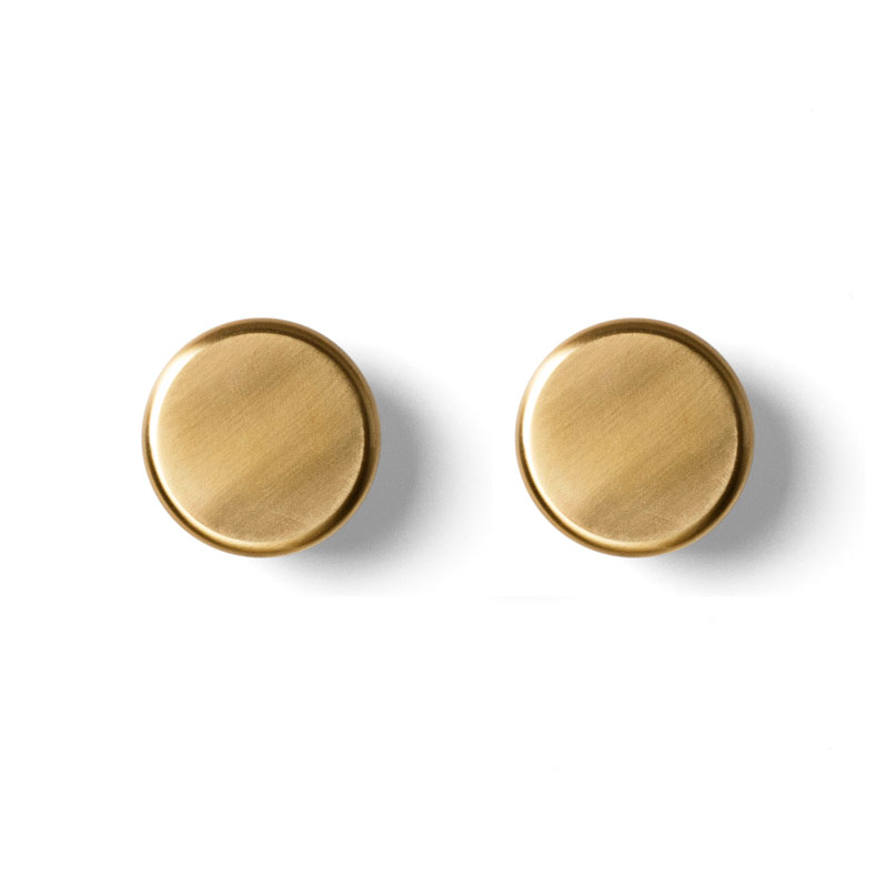 Menu - Norm - Knobs Wall Hooks 2pcs Set Brass