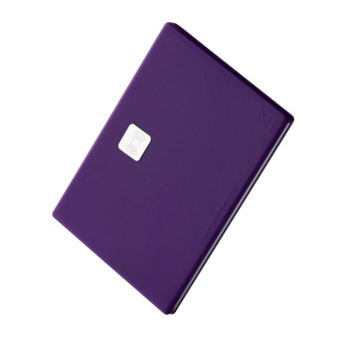 Menu - Purple Rubber Card Holder Beeper