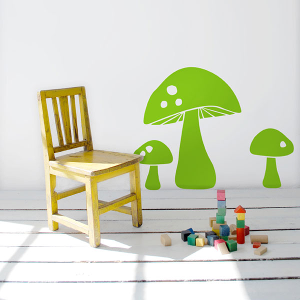 Ferm Living Kids - Mushroom Wall Sticker (Pale Green)