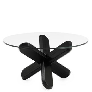 Normann Copenhagen - Ding BlackCoffee Table with Clear Glass