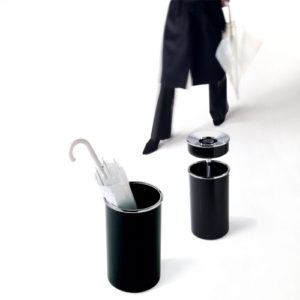 Rexite - Colmo Umbrella Stand Tall Bin Black Chrome