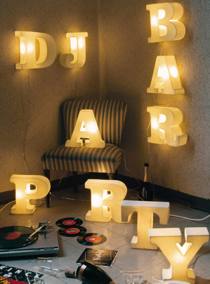 Seletti Lightype Porcelain Letters and Shapes