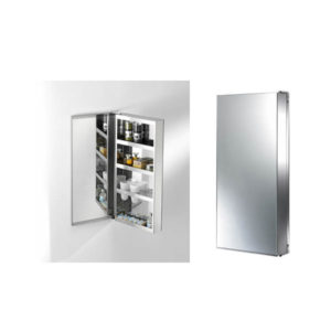 Authentics- Space 04 Wall Single Door Cabinet with Mirrored Back Panel