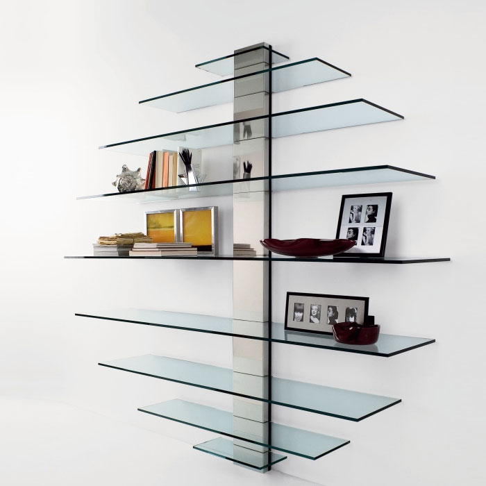Beautiful Tonelli   Mondovisione Glass Wall Shelving Unit