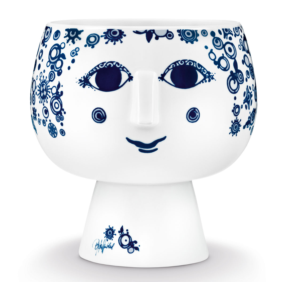 Bjorn Wiinblad - Flowerpot with Foot Juliane Blue Large