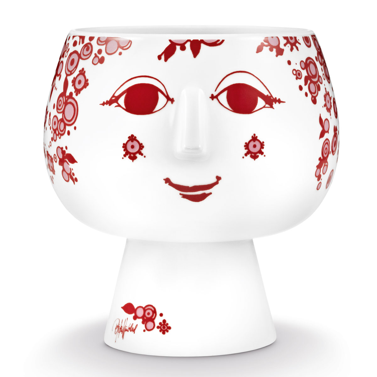 Bjorn Wiinblad - Flowerpot with Foot Juliane Red Medium