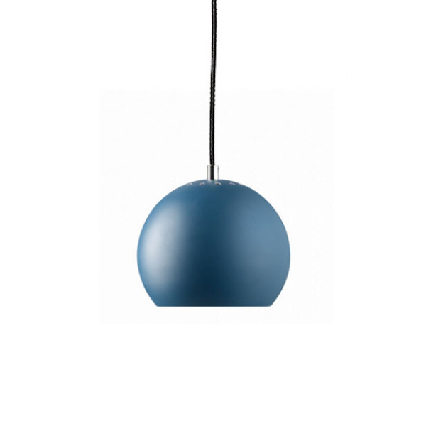 Frandsen - Ball Pendant Light Matt Petroleum Blue (white inside)