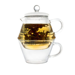 Bredemeijer - Portofino Single Walled Glass Teapot with Glass Cup