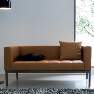 Zanotta - Dama Two-seat Leather Sofa