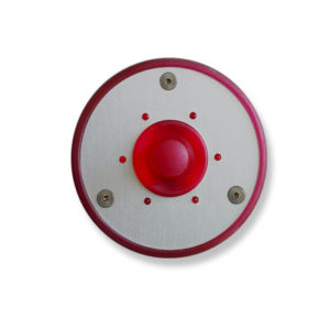 Spore - Round Illuminated Doorbell Button (Red)