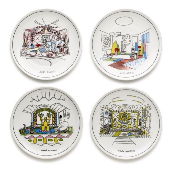 Design Memorabilia - Alessandro Mendini - Decorative Plate 4pcs Set
