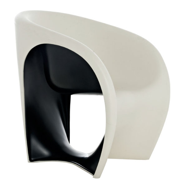 Driade - Ron Arad - MT1 Armchair Sand White Black