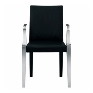 Driade - Philippe Starck - Monseigneur Leather Armchair Black