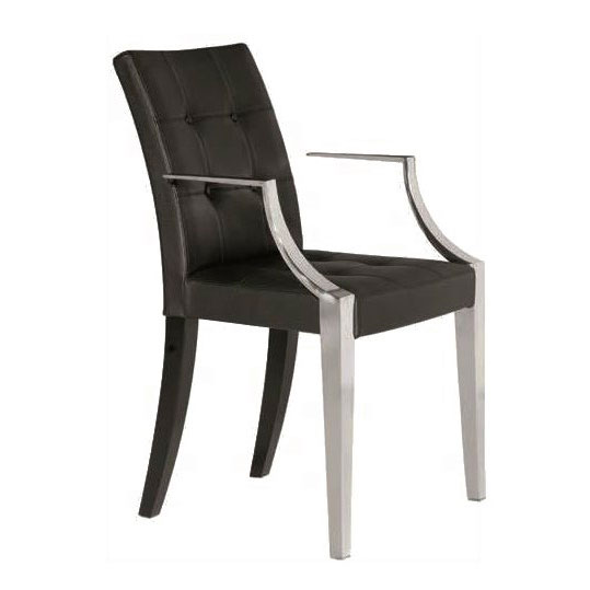 Driade - Philippe Starck - Monseigneur Leather Easy Chair Black