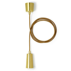 Plumen - Drop Cap Pendant Set - Brass