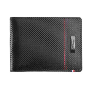 S.T. Dupont -  McLaren Perforated Leather Wallet for 6 Credit Cards Black