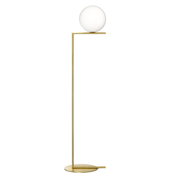 Flos - IC F2 Floor Light Brushed Brass Panik Design