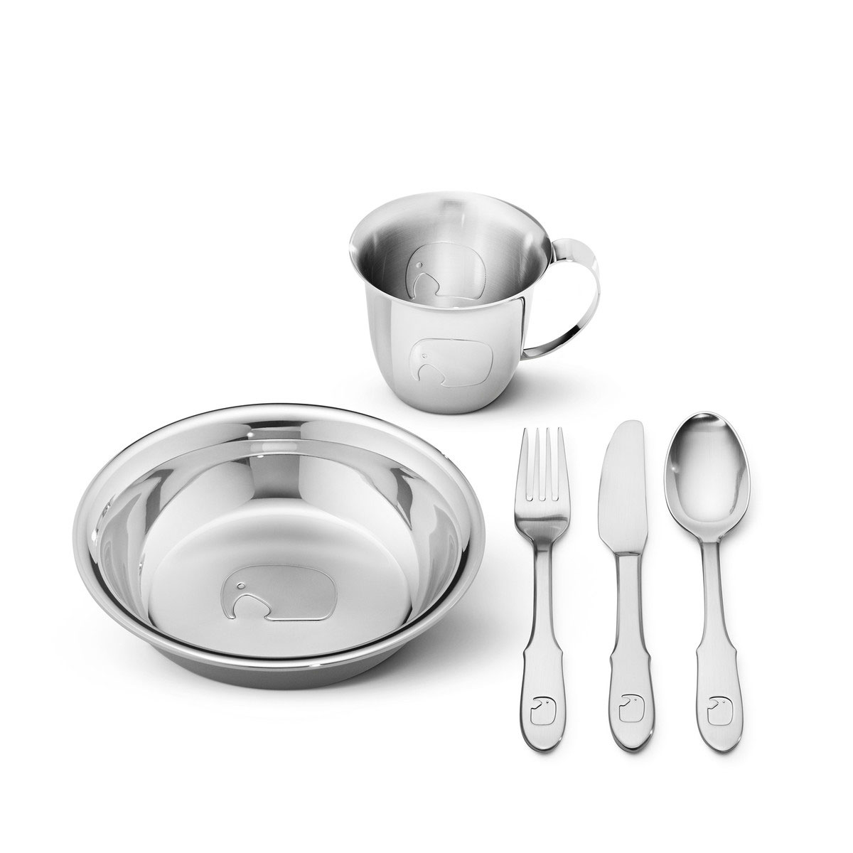 Georg Jensen - Elephant Childrens 5pcs Tableware Set