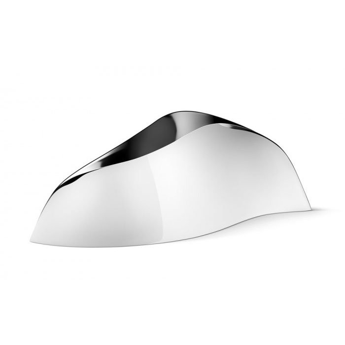 Georg Jensen Mirror Polished Stainless Steel Indulgence Oyster Tray New