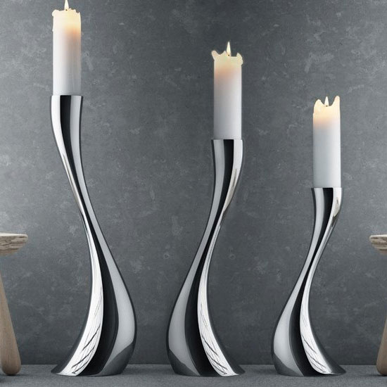 Georg Jensen Cobra Floor Candleholder Medium Panik Design